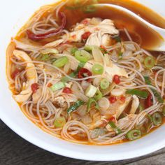 Asian chicken noodle soup - a great choice for cold & flu season.