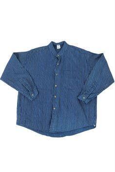 German vintage Fisherman's work shirt/Germany/indigo blue