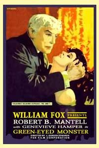 Theatrical poster for the 1916 silent film Green-Eyed Monster.