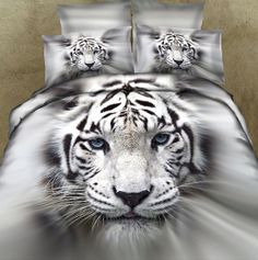 White Tiger Head Bedding Set Cotton Bed Linen for Double Queen Bedclothes Include Duvet Cover Bed Sheet Pillowcases. Category: Home & Garden. Subcategory: Home Textile. Product ID: Comforter Cover, Duvet Bedding, Bed Duvet Covers, Duvet Cover Sets, Bedspread, Cover Pillow, Pillow Cases, Lace Bedding, Boy Bedding