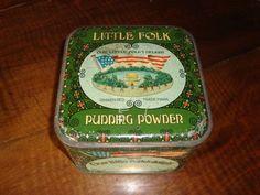 Twee zeldzame oude winkelblikken - Meyer's Bonbons en Little Folk pudding powder - 1920 -30 - Catawiki