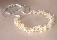 White Bridal Flower Crown Babys Breath floral Hair Wreath Flower Girl halo Bridal headpiece artificial garland handmade Wedding Accessories