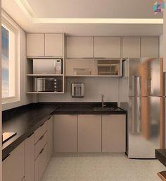 Image may contain: kitchen and indoor Kitchen Layout Interior, Kitchen Design Color, Kitchen Cupboard Designs, Kitchen Interior Design Modern, Kitchen Inspiration Design, Kitchen Room Design, Modern Kitchen Cabinet Design, Kitchen Furniture Design, Kitchen Decor Apartment