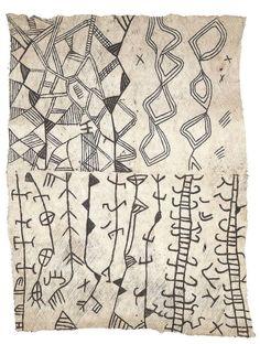 vjeranski:  Africa   Bark cloth. Painted bark cloth. Ituri...