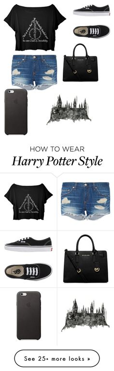 """""""Harry Potter"""" by nelson-iv on Polyvore featuring rag & bone, Vans and MICHAEL Michael Kors"""