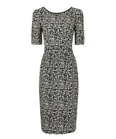 This Black & White Crosshatch Jenna Midi Dress is perfect! #zulilyfinds