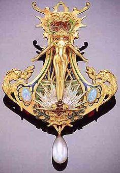 Gorgeous art nouveau jewelry by jewelry designer René Lalique. Love it!