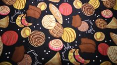 pan dulce fabric i picked up yesterday. is that tight or is that tight Pan Dulce Types, Latina, Coloring Pages, Sweets, Craft Ideas, Bread, Wallpapers, Culture, Cakes