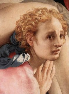 Jacopo Pontormo. Deposition (detail) c. 1528. Oil on wood. Cappella Capponi, Santa Felicità, Florence