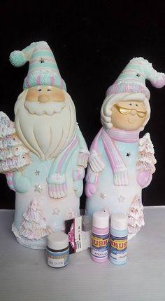 Christmas Crafts, Christmas Decorations, Ceramic Bisque, Ceramic Techniques, Biscuit, Sculpture Clay, Easter Eggs, Santa, Ceramics