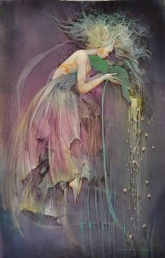 Mother Nature is always speaking. She speaks in a language understood within the peaceful mind of the sincere observer. -- Radhanath Swami - (art by Anne Bachelier) Collage Kunst, Illustrator, Photo D Art, Love Fairy, Flower Fairies, Fairy Art, Magical Creatures, Dragons, Fantasy Art