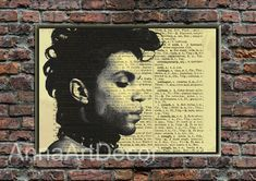 Prince Rogers Nelson Print/Prince Vintage Poster/Famous Singer Wall Art/Retro Poster/Book Page/Dictionary Page Print/Quote Poster Quote Posters, Quote Prints, Wall Prints, Book Page Art, Book Pages, As You Like, Just In Case, Famous Singers, Roger Nelson