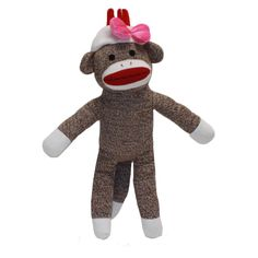 Cupcake is the mom of the sock monkey family.  She spends her time volunteering at Banana Elementary School, where he children go to school.