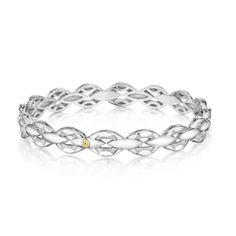 A stunning bracelet to add to your ever-evolving wrist party from our new Ivy Lane collection. Silver links engraved with the signature Tacori crescent weave together to express your unique style. $410.