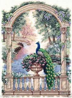 """Dimensions Gold Counted Cross Stitch Kit 12"""" x 16"""" Majestic Peacock 35110 Sale   eBay"""