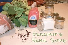 "I love a great idea that is both useful for my home AND something that would make a great GIFT! This ""Gardener's Hand Scrub"" fits the bill PERFECTLY! Kate at The Gaines Gang made these as end of the year Teacher Gifts…but this would make a wonderful gift for just about ANYONE who does any …"