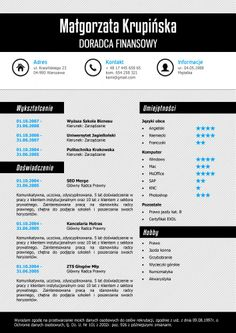 Szablon CV (curriculum vitae) i List Motywacyjny #S2 w wersji Standard