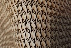 Picture of Curved laser bent wood: his instructable will cover my own experiments with laser kerf bent wood, also known as lattice hinges, and how I tried to create it parametrically to bend along a curved surface.