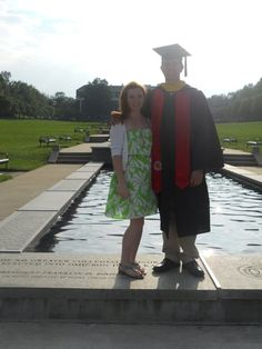 John & I after his graduation from UMD, where we met