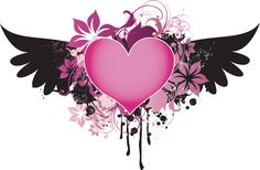 Heart Tattoo Designs | Heart Quot - Free Download Tattoo #38075 Pink Black Winged Heart ...