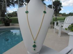 Unique Custom Designed Green Onyx Clover Shaped by JKCustomDesigns, $80.00