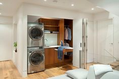 laundry closet ideas stackable - Google Search
