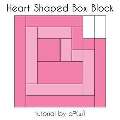 Looking for your next project? You're going to love Heart Shaped Box Block by designer asquaredw.