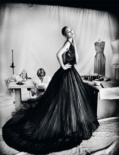 Liu Wen in Christian Dior Haute Couture photographed by Gan for Harper's Bazaar Singapore, June 2012