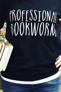 Can we find you with your nose in a book? Be proud, you're probably a Professional Bookworm. Fall in love with this sweatshirt from Bookworm Boutique's Redbubble shop and find hundreds of other designs to get your fix of bookish art!