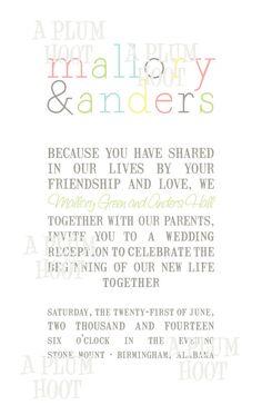wedding invitation DIY by APlumHoot on Etsy, $12.00