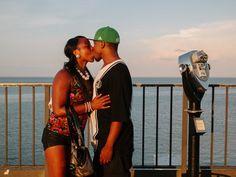 Kiss on the Pier by David Walter Banks via PhotographicMuseum.com