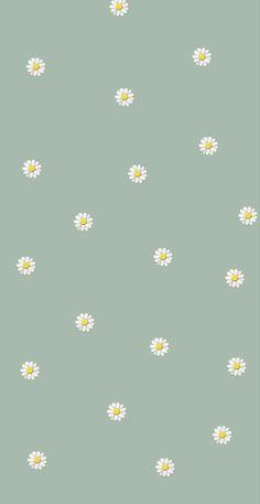Simple Iphone Wallpaper, Daisy Wallpaper, Butterfly Wallpaper Iphone, Cute Pastel Wallpaper, Soft Wallpaper, Minimalist Wallpaper, Iphone Wallpaper Tumblr Aesthetic, Cute Patterns Wallpaper, Iphone Background Wallpaper
