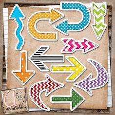 Free printable arrows! Sweet.
