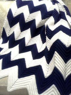 All Things Bright and Beautiful: A Gift of Love: Chevron Afghan (good pattern in sets of 14 (adult) instead of 11 (baby))
