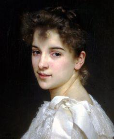 Retrato romántico por el maestro Adolphe William Bouguereau (1825-1905)
