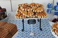 Waffle Love Waffles  #pickyourplum  #minichalkboardsigns  #tablerunner