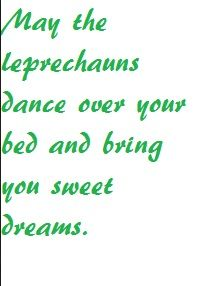 Irish Blessing about Leprechauns