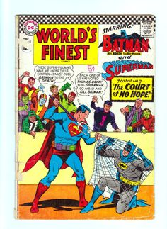 World's Finest Comics 163 DC Comics Silver Age Superman Batman | eBay