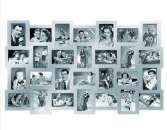 Zeer mooie en stijlvolle fotolijst dat geschikt is voor maar liefst 28 foto's van het formaat 10x15cm. #fotolijsten