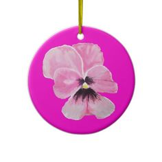 Pink Pansy Ornament
