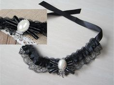 Items similar to Wedding Dog/Cat Collar - Black lace Collar, rhinestone collar, Pet wedding accessory on Etsy Cheap Dog Clothes, Large Dog Clothes, Cute Dog Collars, Cat Collars, Dog Accessories, Wedding Accessories, Dog Christmas Clothes, Dog Clothes Patterns, Gifts For Dog Owners