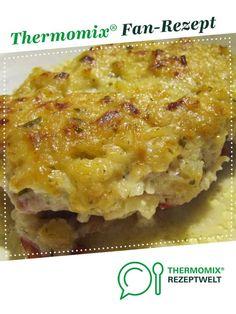 Überbackene Schnitzel mit Zwiebel-Senf-Kruste von sabri. Ein Thermomix ® Rezept aus der Kategorie Hauptgerichte mit Fleisch auf www.rezeptwelt.de, der Thermomix ® Community.