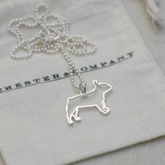 French Bulldog Necklace Sterling