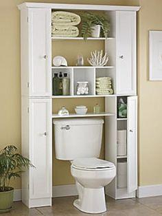 78 Brilliant Small Bathroom Storage Organization Ideas www. 78 Brilliant Small Bathroom Storage Organization Ideas www. Diy Bathroom, Small Bathroom Storage, Bathroom Toilets, Bathroom Shelves, Bathroom Ideas, Over Toilet Storage, Bathroom Closet, Bathroom Cabinets Over Toilet, Small Storage