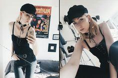More looks by Angelika Slepowronska: http://lb.nu/angerika  #edgy #vintage #retro #bohochic #corset #top #tallyweijl #flare #black