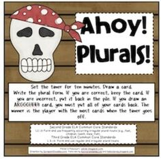 Ahoy! Plurals! Freebie
