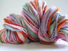 Sweet Sally Ann Handspun Yarn Thick and Thin by RainbowTwistShop, $39.75