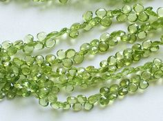 Peridot Beads Natural Peridot Faceted Heart by gemsforjewels