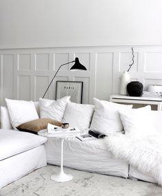 Living Room White, Living Room Sofa, Home Living Room, Living Room Decor, Living Spaces, Sofa Couch, Comfy Sofa, Sofa Design, Interior Design