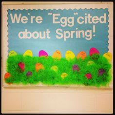 New Class Room Door Ideas Easter Spring Bulletin Boards 27 Ideas Easter Bulletin Boards, Class Bulletin Boards, Preschool Bulletin Boards, March Bulletin Board Ideas, Bullentin Boards, Seasonal Bulletin Boards, Bulletin Boards For Spring, Classroom Door, Classroom Ideas
